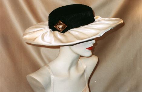 satin draped hat millinery Cleveland